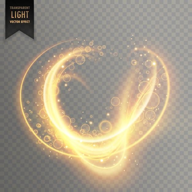 Strisce di luce incandescente con scintillii sfondo trasparente Vettore gratuito