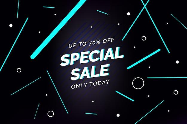 Strisce di vendita speciale e sfondo di cerchi Vettore gratuito