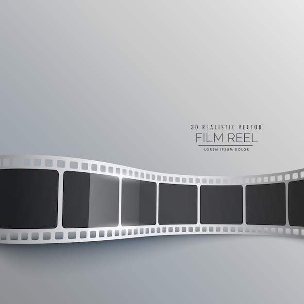 Striscia di pellicola 3d sfondo disegno vettoriale Vettore gratuito
