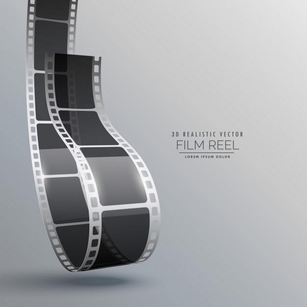 Striscia di pellicola in disegno vettoriale stile 3d for Disegno 3d gratis