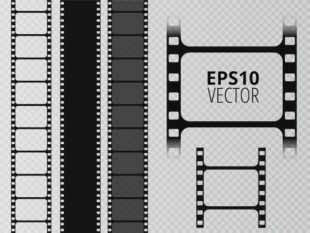 Striscia di pellicola. reel tape Vettore Premium