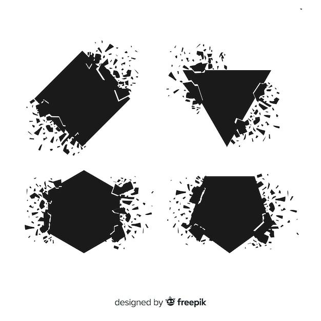 Striscione che esplode forma geometrica Vettore gratuito