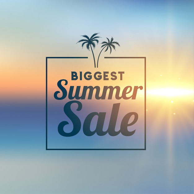 Striscione elegante di vendita di estate impressionante Vettore gratuito