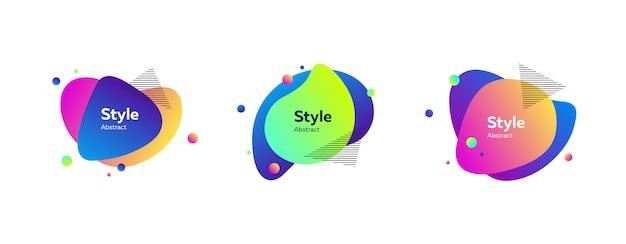 Striscione liquido colorato vibrante Vettore gratuito