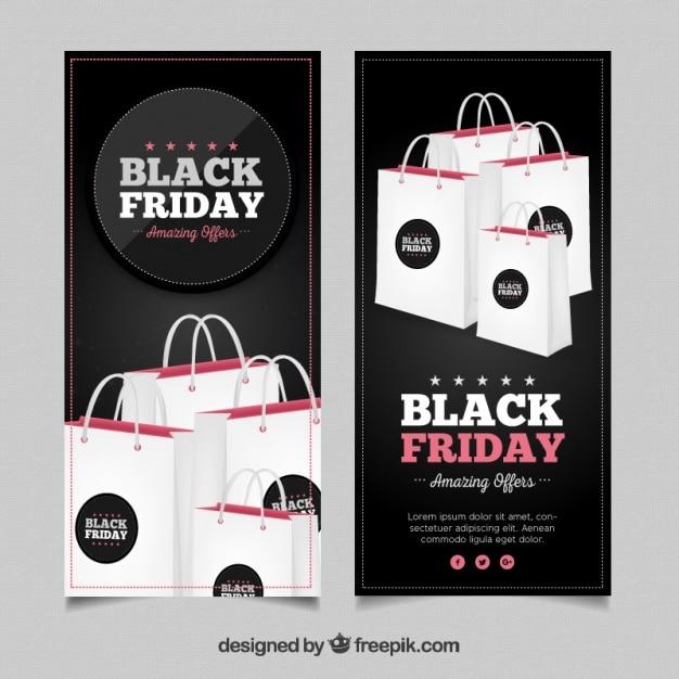 Borse Braccialini Black Friday : Striscioni black friday con borse della spesa scaricare