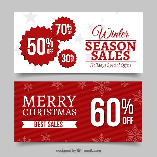 Striscioni vendita inverno Vettore gratuito