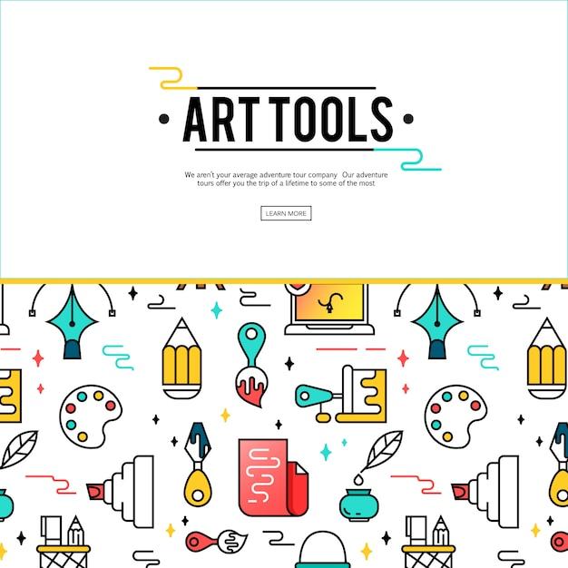 Strumenti d'arte e materiali per la pittura. Vettore gratuito