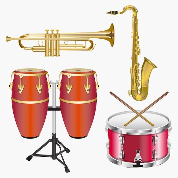 Strumenti musicali Vettore Premium