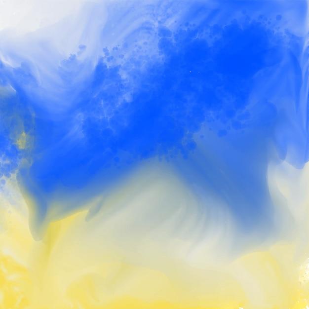 Struttura astratta dell'acquerello blu e giallo Vettore gratuito