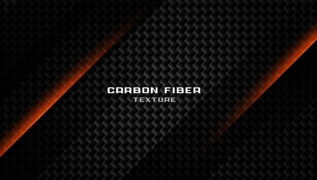 Struttura astratta in fibra di carbonio nero scuro Vettore gratuito