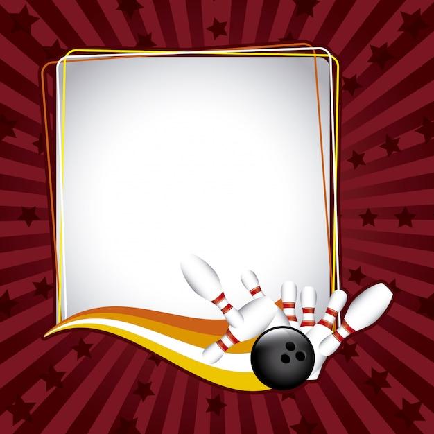Struttura di bowling sopra l'illustrazione di vettore del fondo di lerciume Vettore Premium