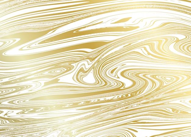 Struttura di marmo dell'oro su bianco Vettore Premium
