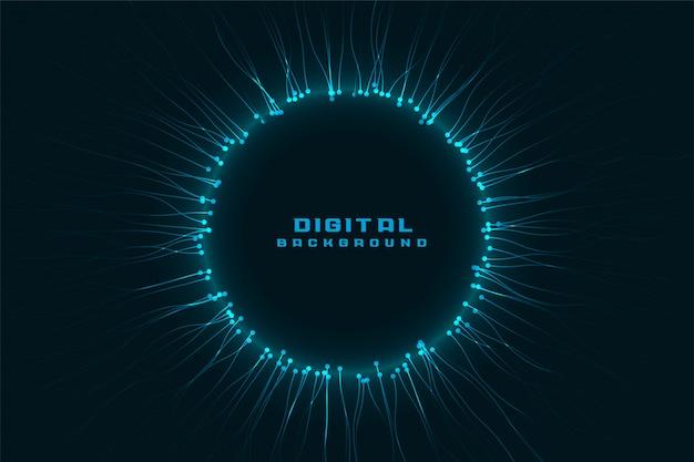 Struttura digitale della rete tecnologica con lo spazio del testo Vettore gratuito