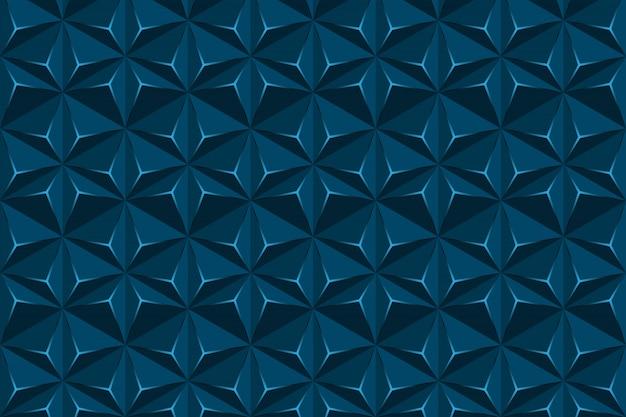Struttura geometrica astratta di esagono, fondo del triangolo blu Vettore Premium