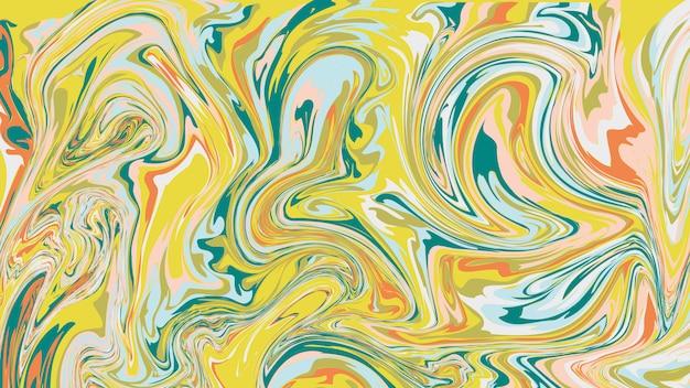 Struttura in marmo liquido, superficie marmorizzata colorata. sfondo di inchiostro watermarble. Vettore Premium