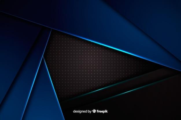 Struttura metallica forme sfondo blu Vettore gratuito