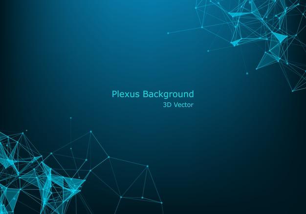 Struttura molecolare. linee collegate con punti. Vettore Premium