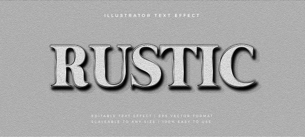 Struttura rustica effetto testo stile testo argento Vettore Premium
