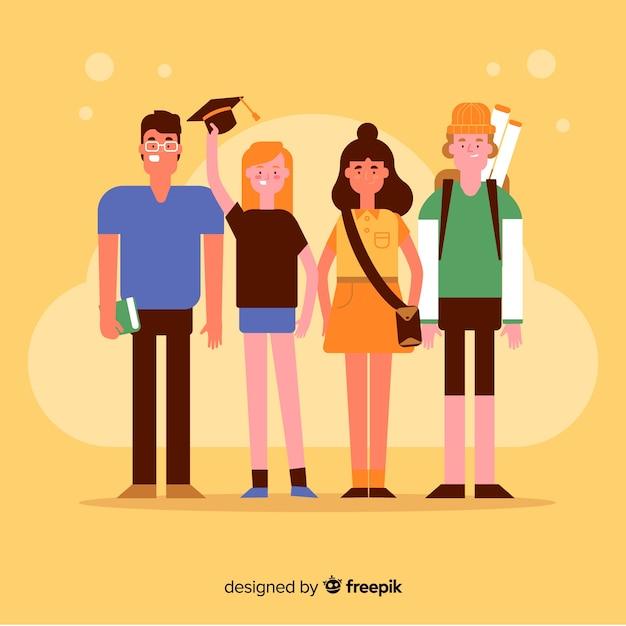 Studente universitario Vettore gratuito