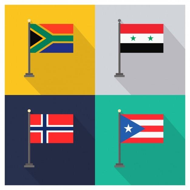 Sud africa siria norvegia porto rico Vettore gratuito