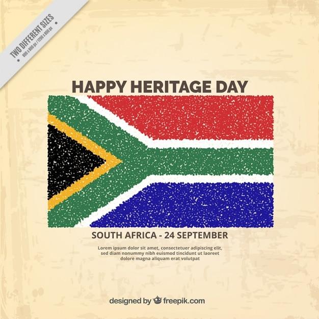 Sudafrica giorno patrimonio di sfondo Vettore gratuito