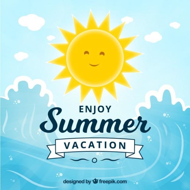 Summertime sole Vettore gratuito