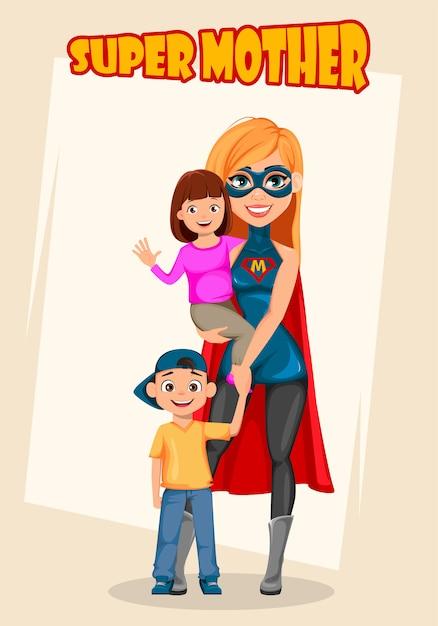 Super madre Vettore Premium