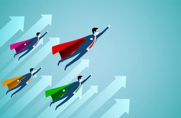 Supereroe di successo Vettore Premium