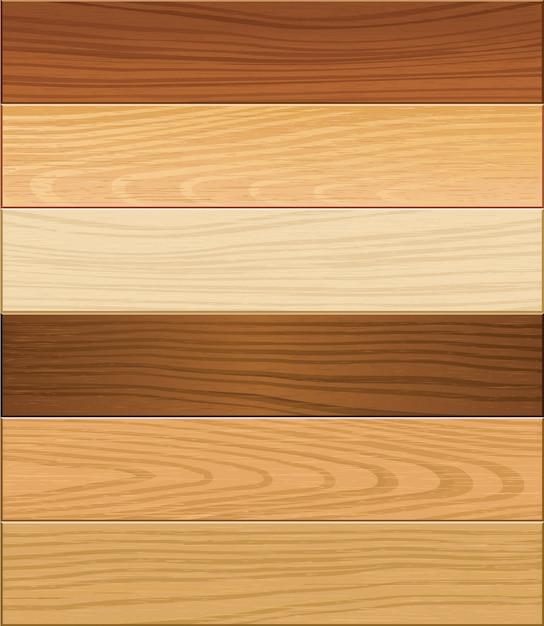 Superficie del parquet in legno. Vettore Premium