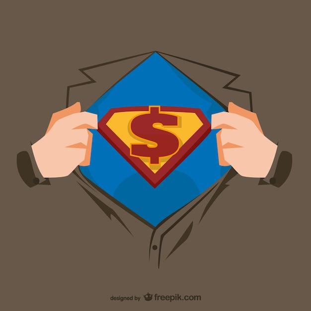Superhero illustrazione petto Vettore gratuito