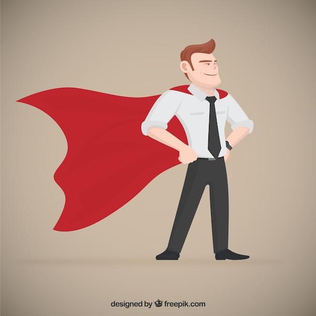 Superhero imprenditore Vettore gratuito