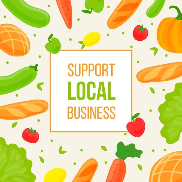 Supportare il concetto di agricoltori locali Vettore gratuito