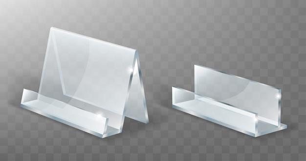 Supporto acrilico, espositore in vetro o plastica Vettore gratuito