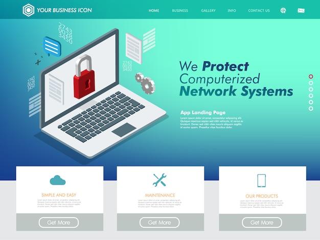 Supporto tecnologico per il sito web di rete internet Vettore Premium