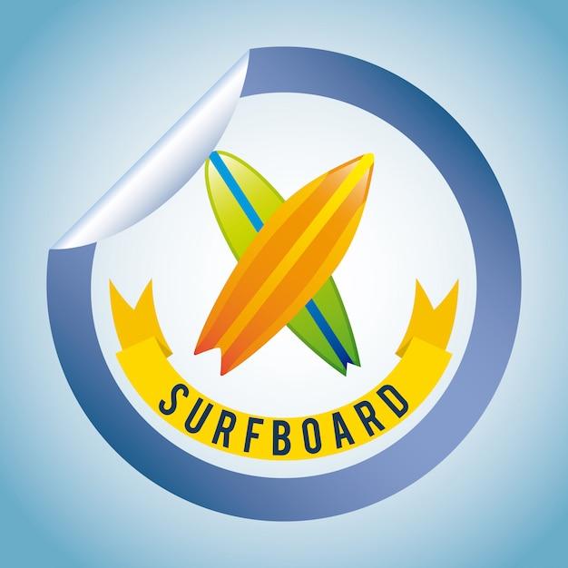 Surf semplice elemento Vettore gratuito