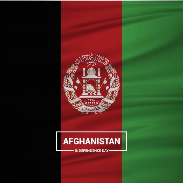 Sventolando la bandiera afghanistan Vettore gratuito