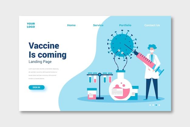 Sviluppo del vaccino contro il coronavirus Vettore gratuito