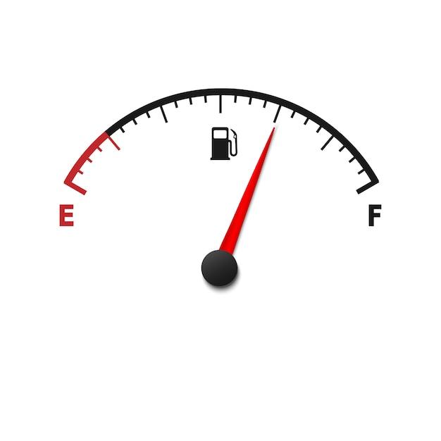 Svuotare il misuratore del carburante Vettore Premium