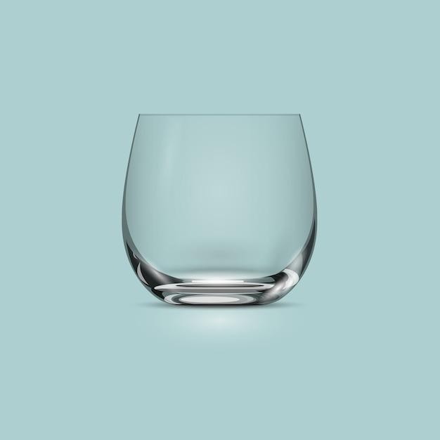 Svuoti la tazza trasparente del bicchiere Vettore Premium