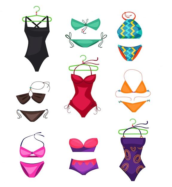 Swimwear set illustration Vettore gratuito