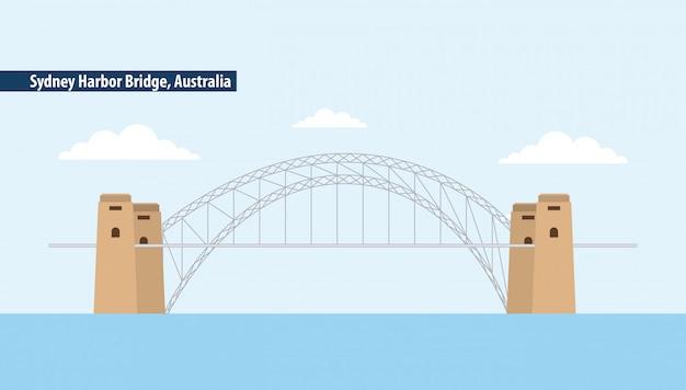 Sydney harbour bridge, australia Vettore gratuito