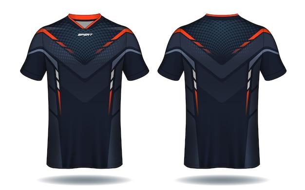T-shirt da calcio jersey modello.sport. Vettore Premium
