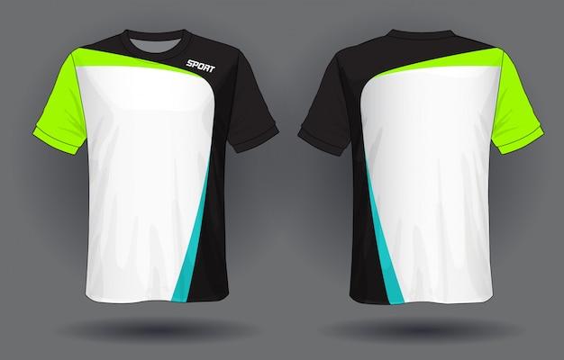 T-shirt da calcio jersey template.sport. Vettore Premium