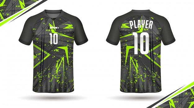 T-shirt da calcio modello sport design Vettore Premium