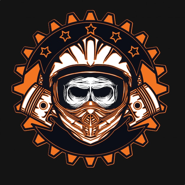 T-shirt da motociclista racer Vettore Premium