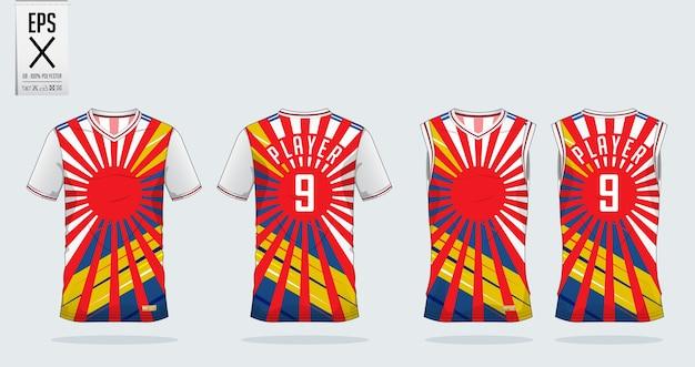 T-shirt design sportivo mockup Vettore Premium