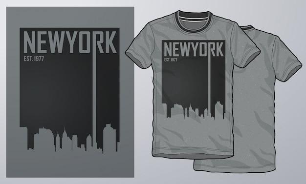 T-shirt e abbigliamento moderno design, tipografia. Vettore Premium