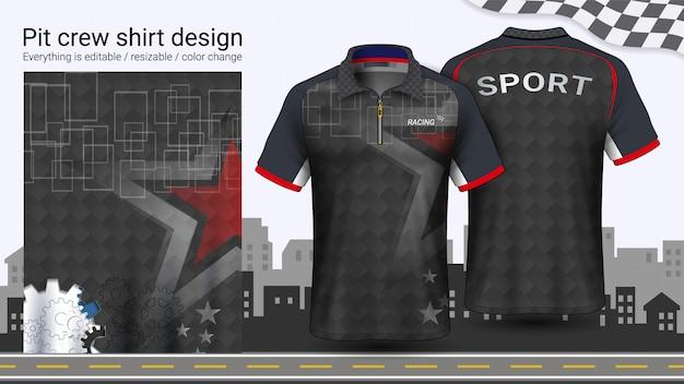 T-shirt polo con cerniera Vettore Premium