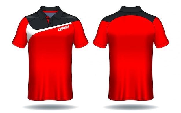 T-shirt polo design Vettore Premium