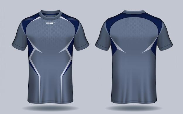 T-shirt sportiva da calcio. Vettore Premium